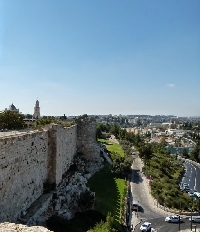 Jerusalem outside wall
